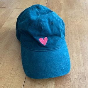 New without tags corduroy heart baseball dad hat